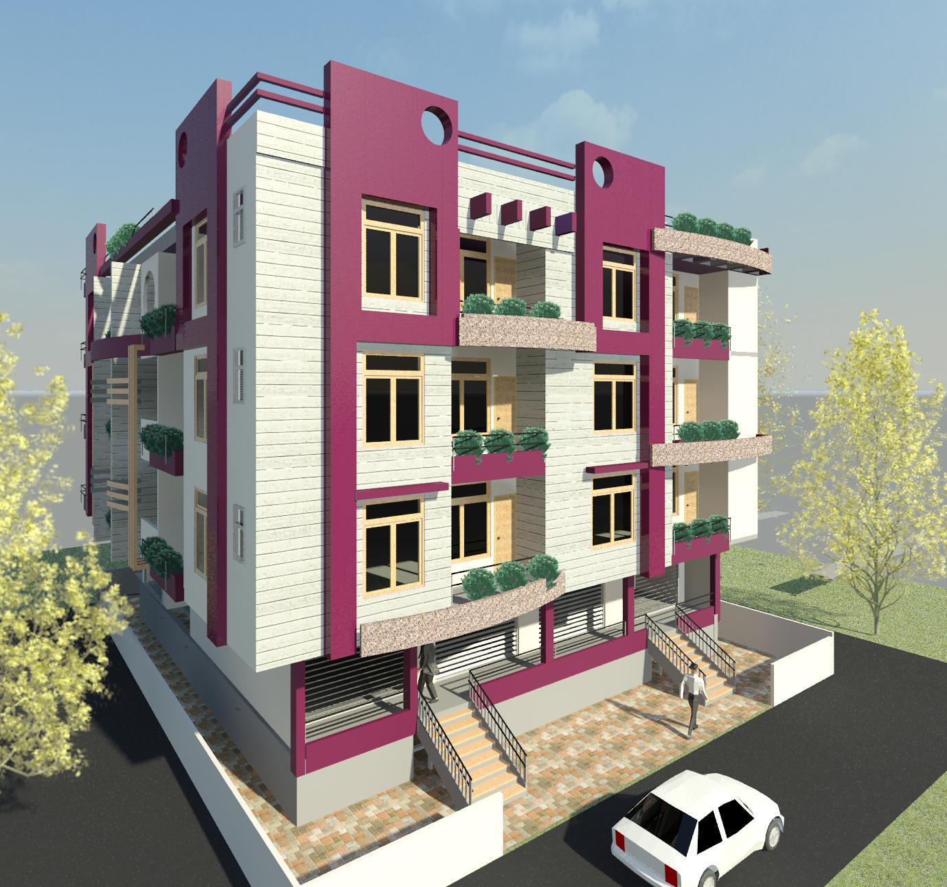 A residential cum commercial building at Ujjain