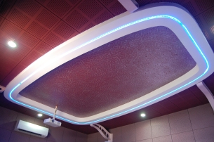 acoustic ceiling of home theatre