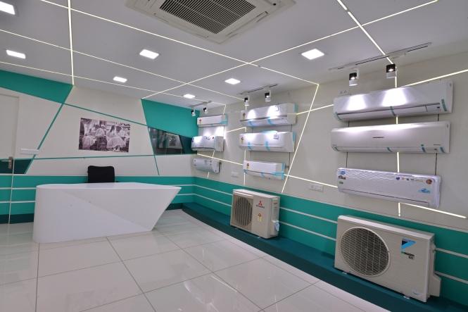 A.C. showroom