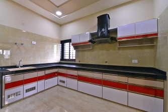 A made on site kitchen