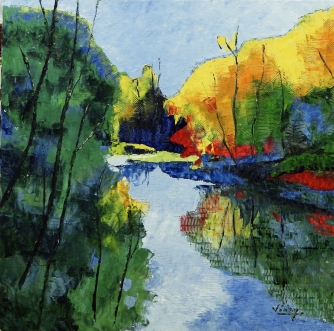 "Oil on canvas 24""x24"""