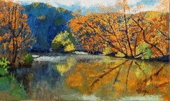 "Oil on canvas 18""x30"""