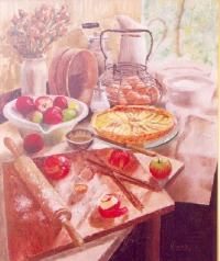"""Oil with palate knife on canvas 21""""x24"""""""